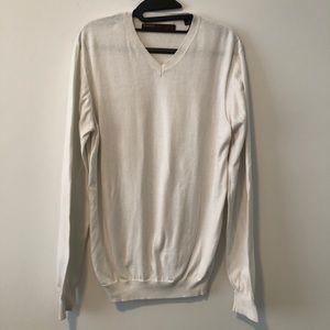 Perry Ellis | V-neck white knit